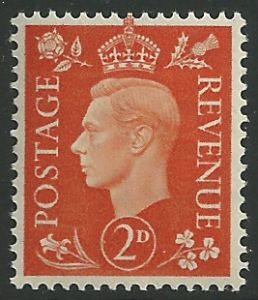 SG465 2d Orange Unmounted Mint (George VI 1937 Definitive Stamps)